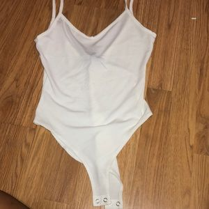 forever 21 white bodysuit (brand new)